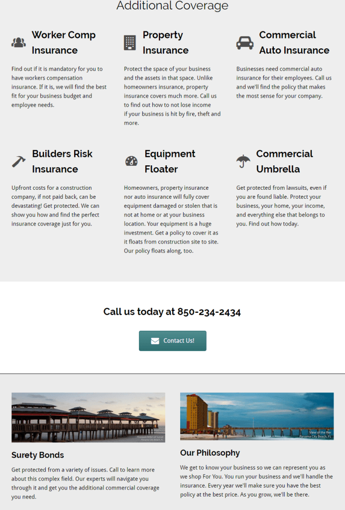 business insurance page by marviene