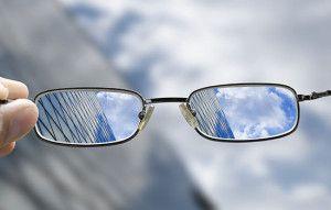 glasses bringing the picture into focus